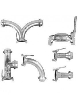 Galvanized fittings with fast coupling joints